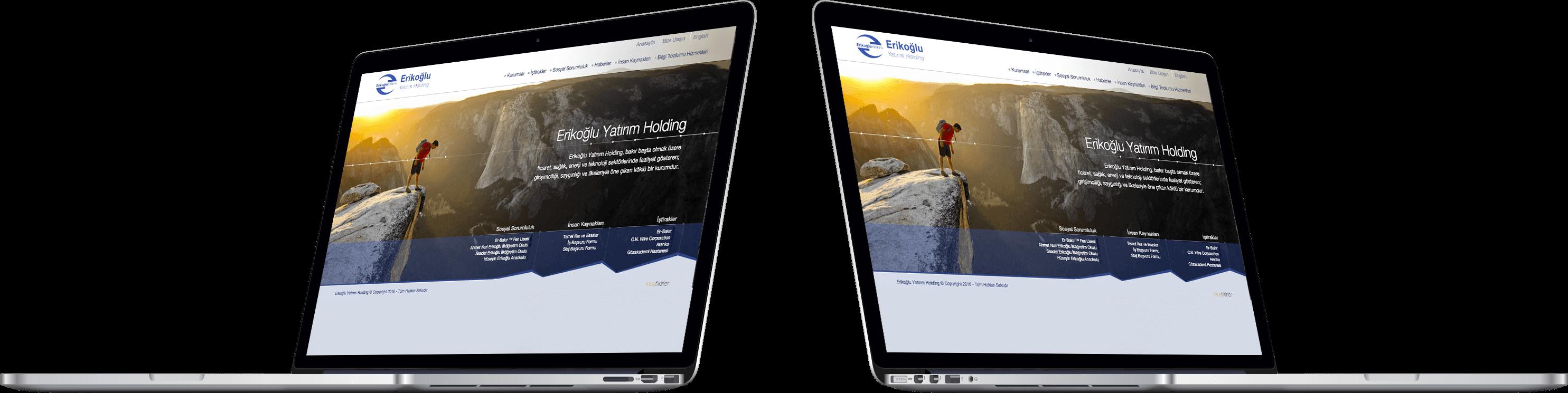 ERİKOĞLU YATIRIM HOLDİNG | Web Tasarım